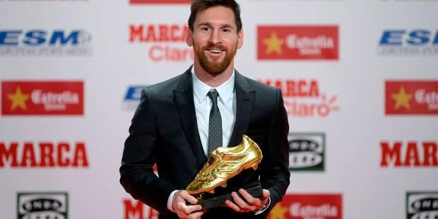 Lionel Messi Soulier d'Or 2016/17 - La Libre