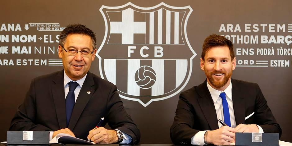 Messi prolonge son contrat au FC Barcelone jusqu'en 2021