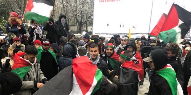 Manifestation contre la visite de Benyamin Netanyahu à Bruxelles - La Libre