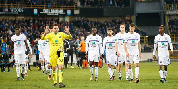 """""""De telles prestations sont inacceptables"""": le club d'Anderlecht s'excuse après la déroute à Bruges - La Libre"""