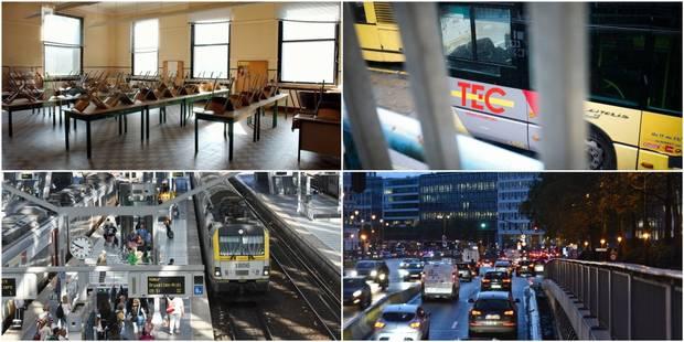 Manifestation pour les pensions: Le trafic ferroviaire entre Namur et Bruxelles le plus impacté, le réseau Tec impacté -...