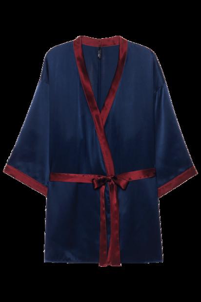 avec style dans ce peignoir kimono en soie, Intimissimi, 119.90€