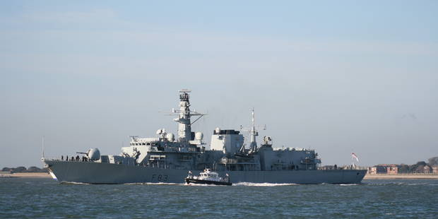 """Une frégate britannique """"escorte"""" un bâtiment russe en mer du Nord - La Libre"""