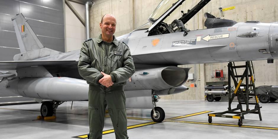 """F-16 belges face à l'Etat islamique: """"C'est une sale guerre. On a affaire à un adversaire très rusé, très habile"""" (PHOTO..."""