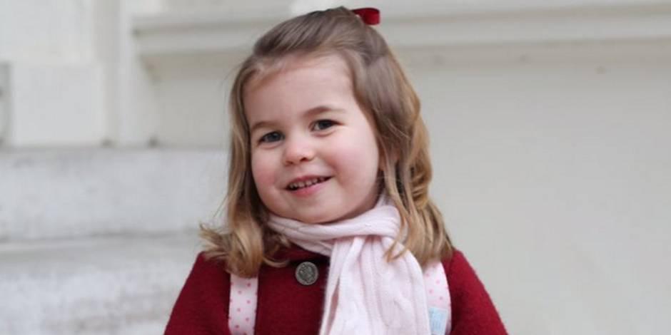 La princesse Charlotte craquante lors de sa rentrée à la crèche