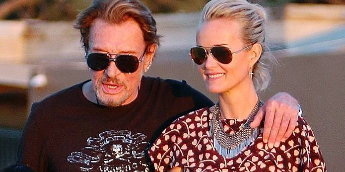 Johnny Hallyday-Archive. 10 Dec 2017 Pictured: Johnny Hallyday, Laeticia Hallyday,. Photo credit: MEGA TheMegaAgency.com +1 888 505 6342 Reporters / Mega *** Local Caption *** MEGA131368_008