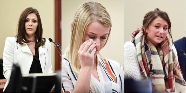"""""""Tu m'as manipulée"""", """"J'ai cru mourir"""": des championnes de gym témoignent au procès Nassar - La Libre"""