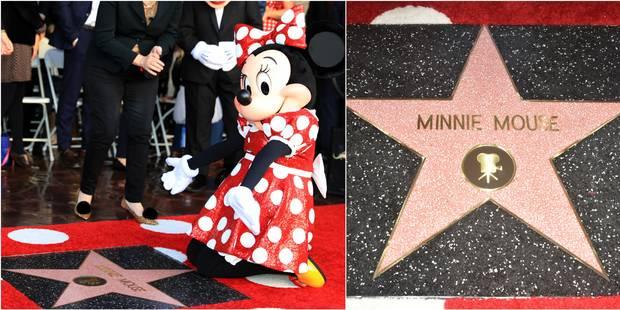 Minnie reçoit une étoile à Hollywood, quelques décennies après Mickey - La Libre