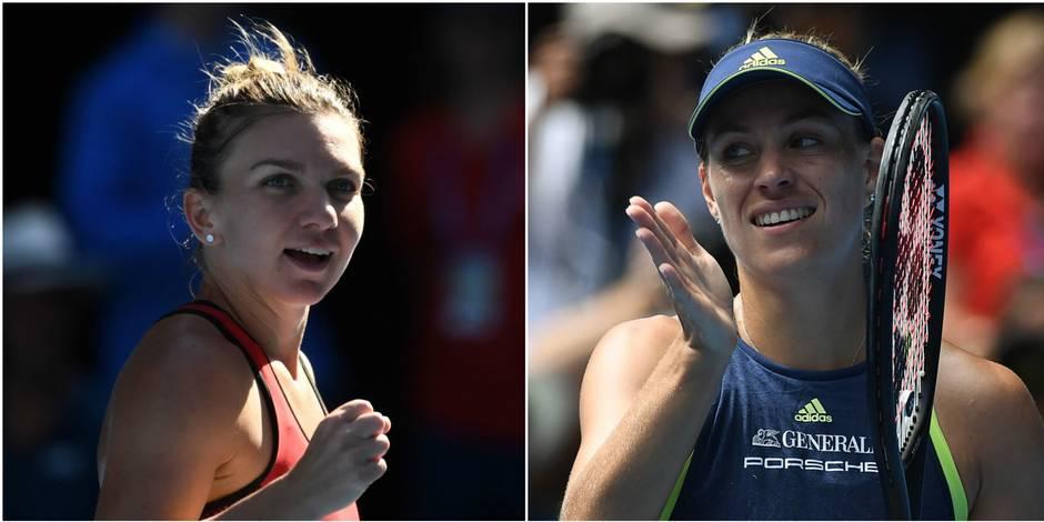 Simona Halep et Angelique Kerber rejoignent Élise Mertens dans le dernier carré l'Australian Open