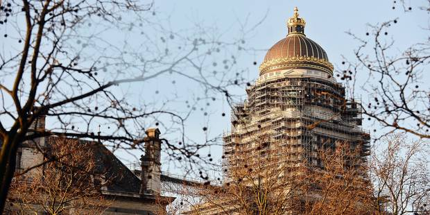 Bruxelles: La fin des travaux de sécurisation du palais de justice annoncée pour février - La Libre