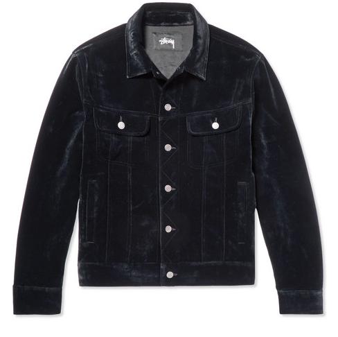 Stüssy. Velvet Trucker Jacket.       210 euros.