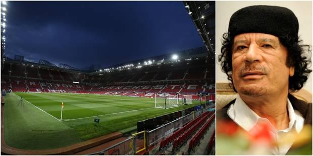 """Kadhafi a été """"à quelques heures"""" de racheter des parts de Manchester United - La Libre"""