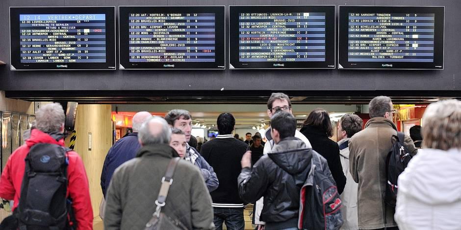 SNCB gare train transport navetteurs travaux voie horaire heure passager travail bruxelles nord retard