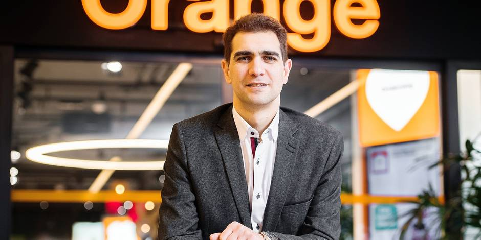 Orange CEO Mickael Trabbia poses for the photographer ahead of a press conference of mobile phone operator Orange (former Mobistar) to present the financial and operational results of the year 2016 on Thursday 09 February 2017 in Brussels. BELGA PHOTO LAURIE DIEFFEMBACQ