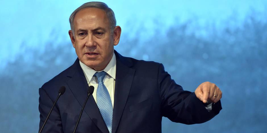 """Crash d'un F16 israélien: Israël """"ne permettra pas un ancrage"""" militaire de l'Iran en Syrie, prévient Netanyahu"""