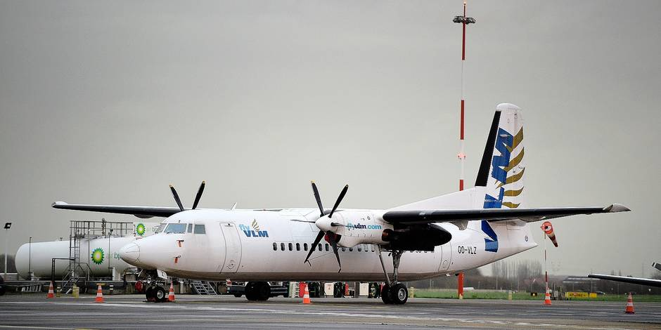 Illustration picture shows a VLM airlines aircraft after a press conference of VLM airlines and Antwerp airport, on Monday 22 January 2018 in Antwerp. BELGA PHOTO YORICK JANSENS