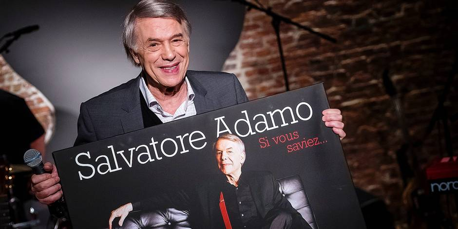 Singer Salvatore Adamo poses for the photographer at the presentation of the new album 'Si vous saviez' of Belgian singer Adamo, in Brussels, Wednesday 14 February 2018. BELGA PHOTO LAURIE DIEFFEMBACQ
