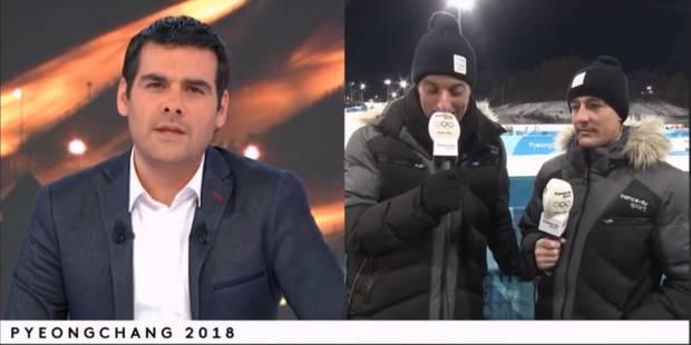 JO 2018 | Un journaliste de France 2 craque complètement en direct - La Libre