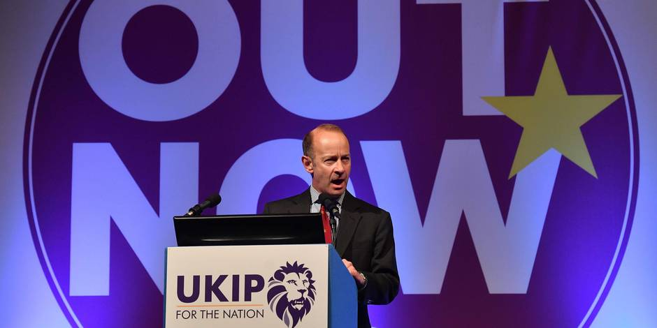 Le chef du parti europhobe britannique Ukip démis de ses fonctions