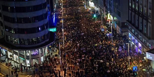 Grève générale sans précédent pour les femmes en Espagne - La Libre