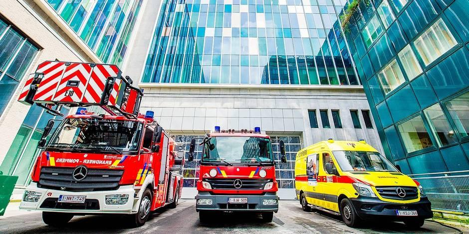 Nouvelle Caserne de pompiers Bruxelles Rue Vesale