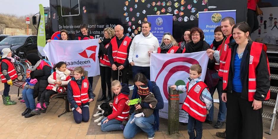 Quelque 3.750 volontaires ont nettoyé les plages belges de 5,5 tonnes de déchets