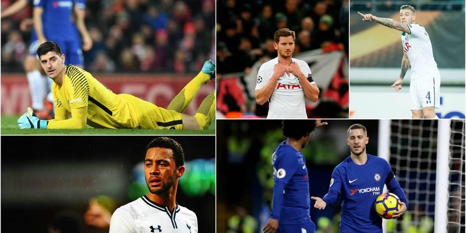 """Chelsea - Tottenham: Objectifs """"Big Four""""... et Coupe du Monde pour certains Belges"""