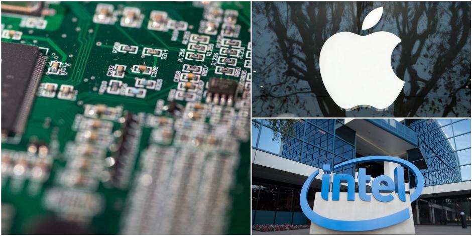 Apple veut fabriquer ses propres puces: Intel chute