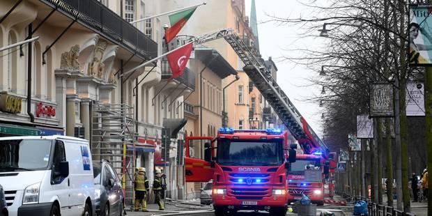 Suède: quatorze blessés dans l'incendie du bâtiment de la résidence de l'ambassadeur belge - La Libre