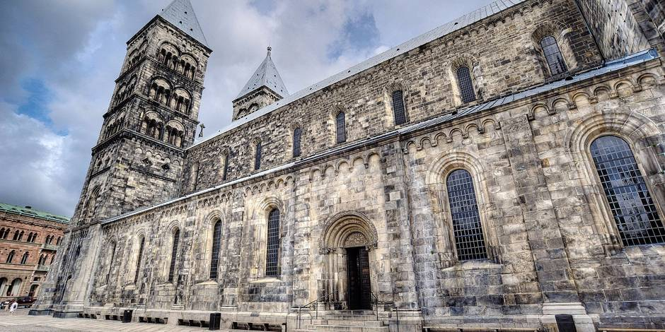 Dom zu Lund Lunds domkyrka Skane Schweden cathedral Lunds domkyrka Skane Sweden BLWX098670 Co