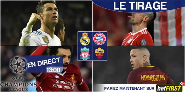 Champions League: Bayern - Real et Liverpool - Roma en 1/2 - La Libre