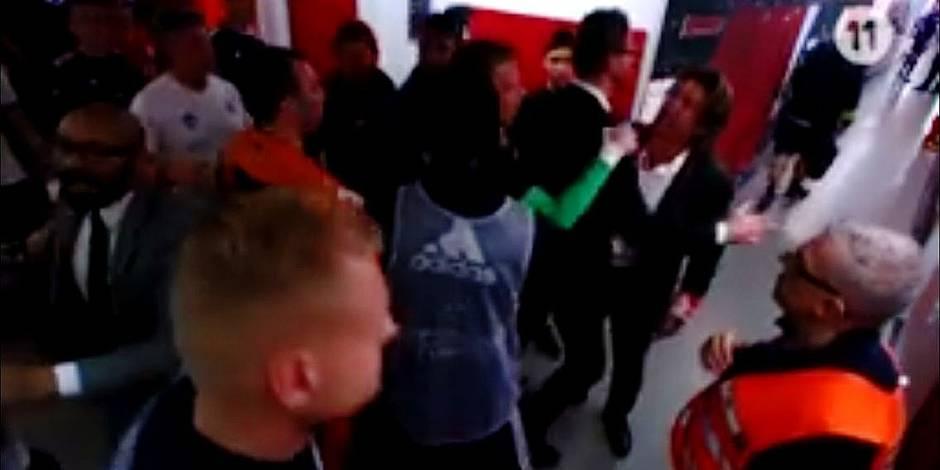 Ça a chauffé à la pause entre l'entraîneur du Standard et un adjoint d'Anderlecht (VIDEO)