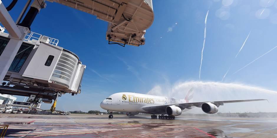 avions emirates Brussels Airport