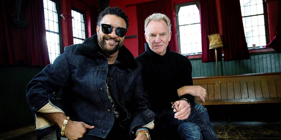 British singer Sting (R) poses with Jamaican Shaggy during an interview with Spanish international news agency EFE on the occassion of the presentation of their new song 'Don't Make Me Wait', in London, United Kingdom, 12 February 2018. EFE/ Isabel Infantes NO SYNDICATION.
